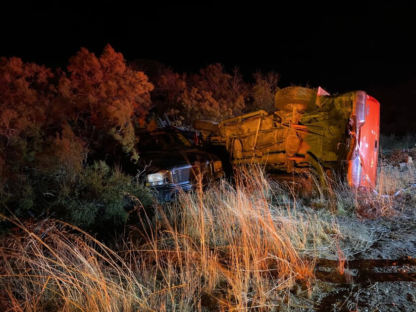 Two people were hospitalized after a crash involving six vehicles occurred Sunday on Highway 79 west of Warner Springs