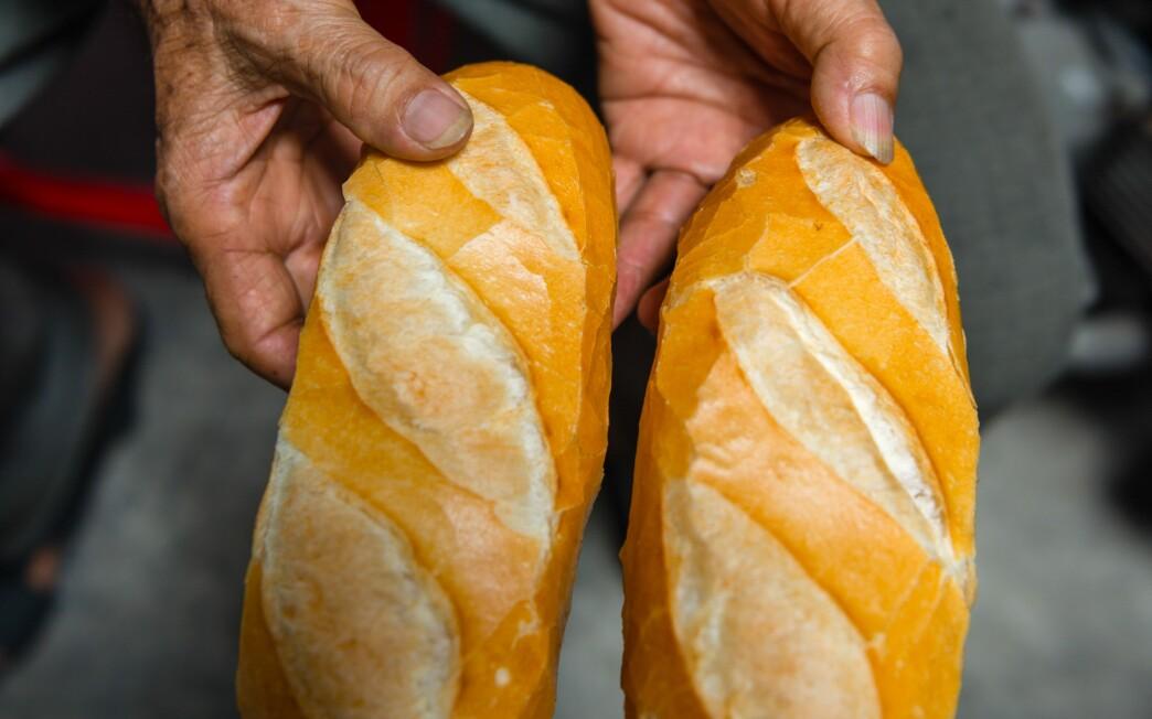 Banh mi bread at a bakery in Ho Chi Minh City, Vietnam.