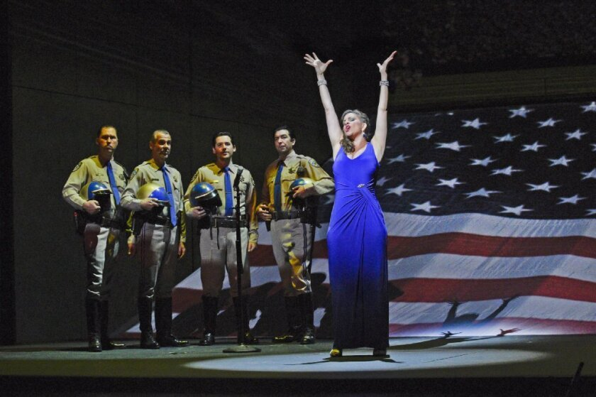 "Soprano Joyce El-Khoury is Tatyana Bakst in San Diego Opera's ""Great Scott."""