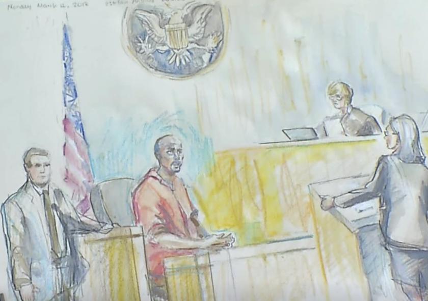 Representación de Esteban Loaiza en la Corte Federal en San Diego para una audiencia.