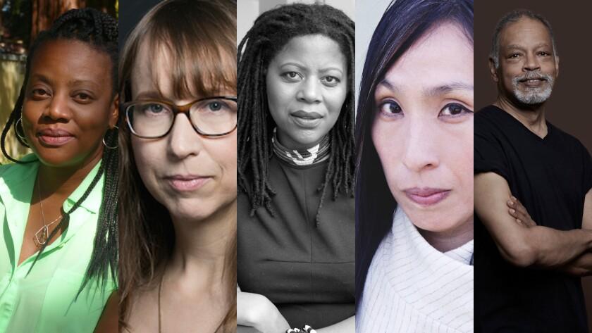 The winners of the 2016 Herb Alpert Awards in the Arts, from left: Cauleen Smith, Anne Washburn, Simone Leigh, Dohee Lee, Ishmael Houston-Jones.