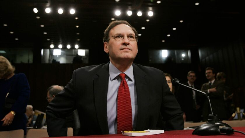 Poised to cut the legs out from public worker unions: Supreme Court Justice Samuel Alito, seen here at the time of his 2006 confirmation hearings.