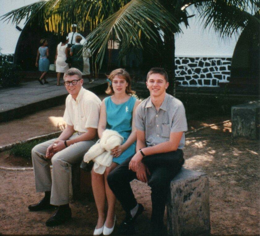 Bill, Inga and Olof at the Bahia, Brazil airport, Jan. 20, 1965