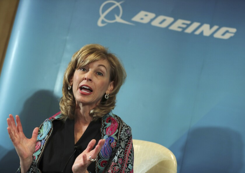 Leanne Caret, shown in November, is chief executive of Boeing's defense unit.