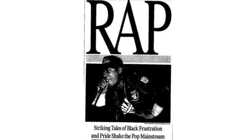 Robert Hilburn's rap story