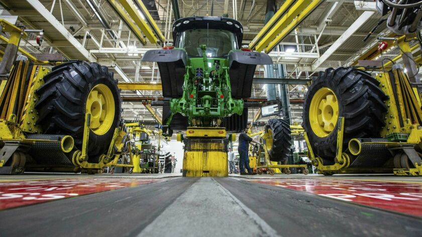 A John Deere tractor being built in Iowa. The most aggressive moves in fully autonomous farm equipment have come from a couple of small start-ups, not industry leaders like Deere.