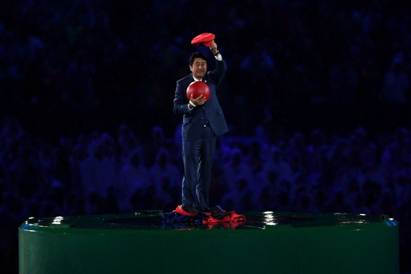 نخست وزیر ژاپن ، شینزو آبه در نقش سوپرماریو ظاهر می شود