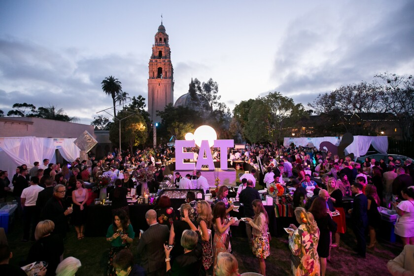 Annual Bloom Bash at the San Diego Museum of Art.