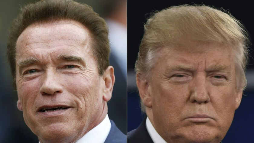 President-elect Donald Trump's move into the Oval Office reminds many in Sacramento of the tumult Arnold Schwarzenegger faced as he went from celebrity outsider to California governor.