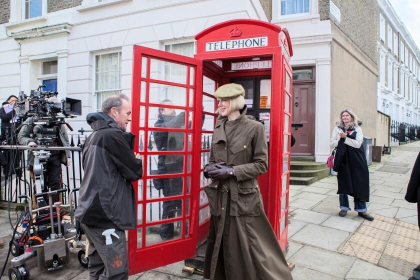 """Nicole Kidman on the set of the movie """"Paddington"""" in London."""