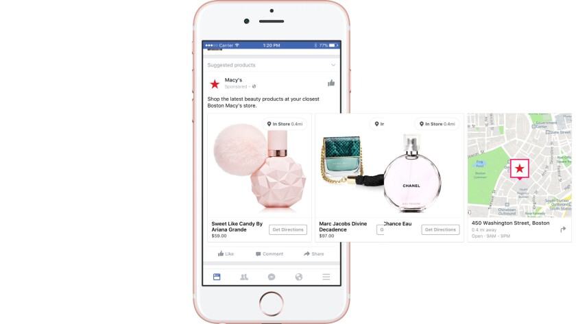 Macy's Facebook's dynamic ads