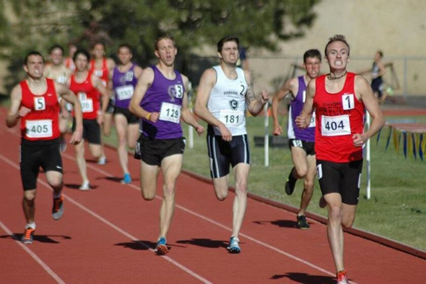 Southern Oregon's Eric Avila (404) has the fastest collegiate 5,000-meter time in the country this spring at 13:43.05.