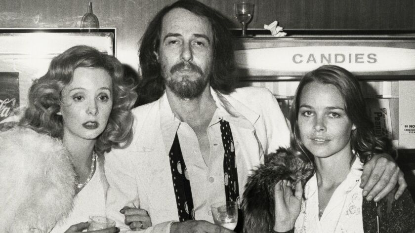 Genevieve Waite, John Phillips and Michelle Phillips in 1973 in New York City.