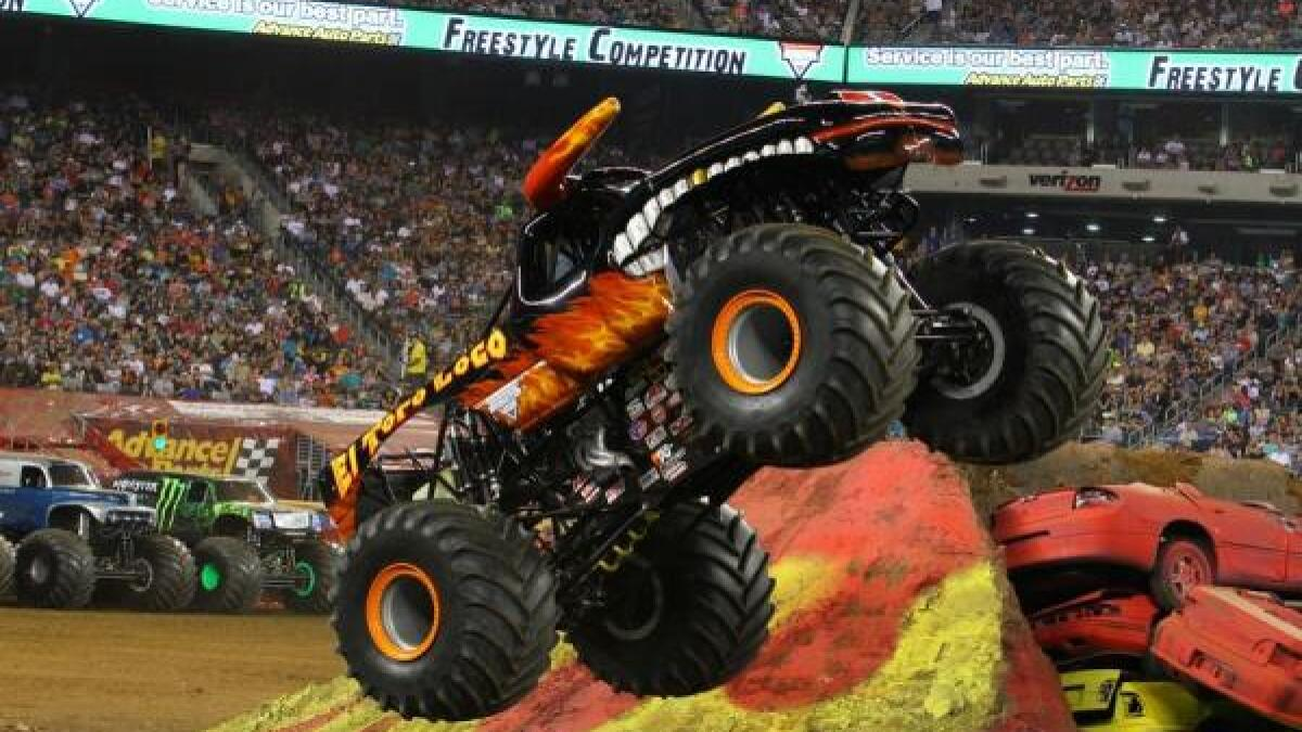 Monster Trucks Tear Up The Dirt At Petco Park This Weekend The San Diego Union Tribune