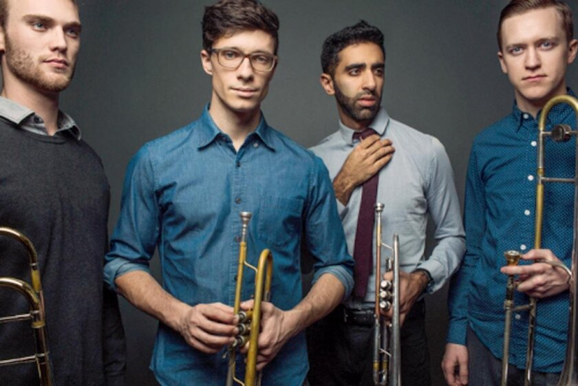 The Westerlies, a brass quartet with two trombones and two trumpets, performs 7:30 p.m. Feb. 27.