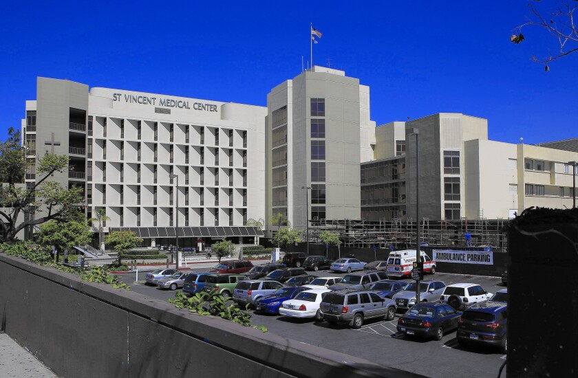 Daughters of Charity's six Catholic hospitals include St. Vincent Medical Center in Los Angeles, above, and St. Francis Medical Center in Lynwood.
