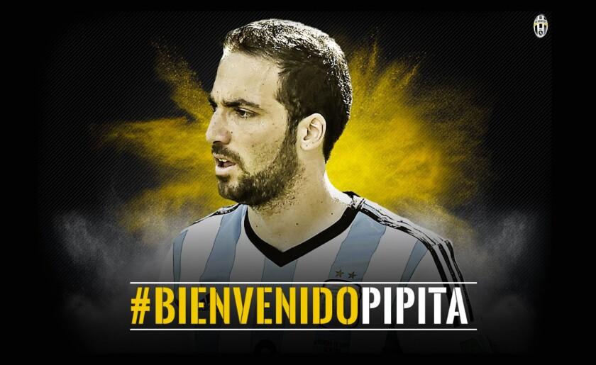 Así anunció Juventus la llegada de su nuevo delantero: Gonzalo Higuaín.