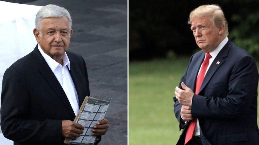 Los presidentes Andrés Manuel López Obrador (México) y Donald Trump (EEUU).