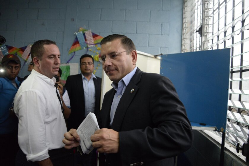 Guatemala presidential candidates