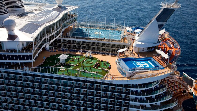 The launch of Royal Caribbean International's Oasis of the Seas, the worlds largest cruise ship. Aer
