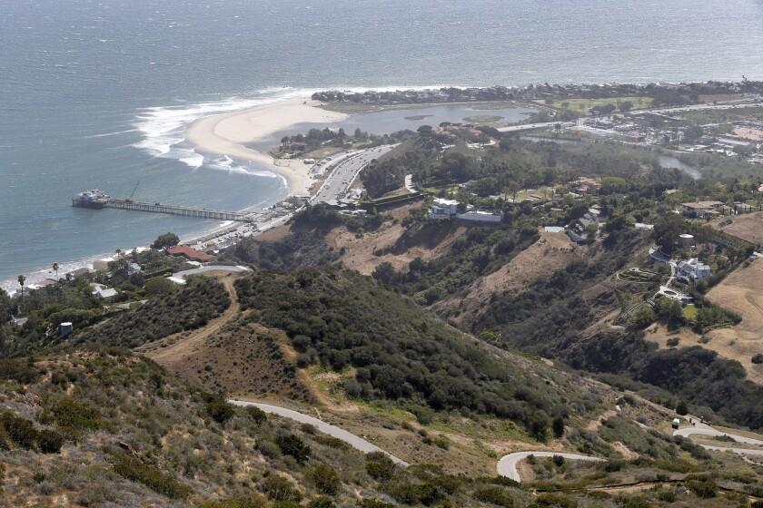 MALIBU, CA -- MONDAY, APRIL 25, 2016: A view from a coastal Malibu ridge where U2's The Edge wants t