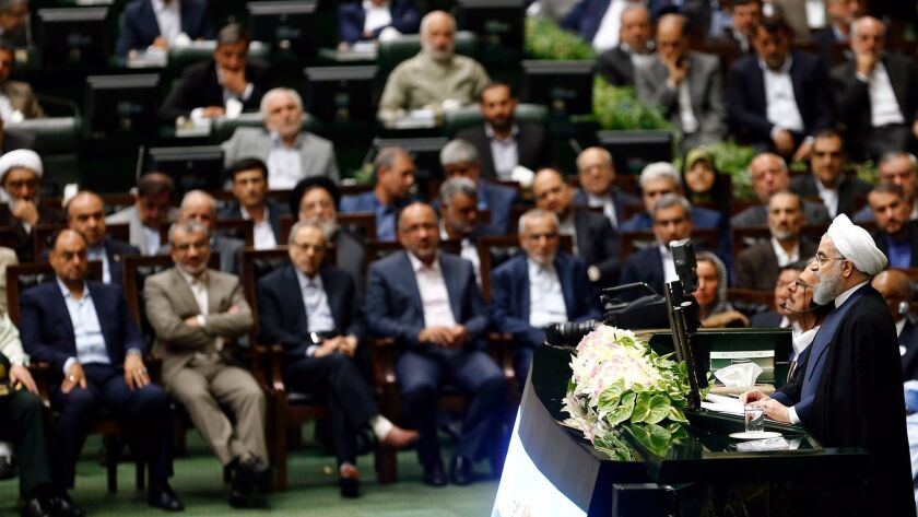 Hassan Rouhani sworn in as Iranian president
