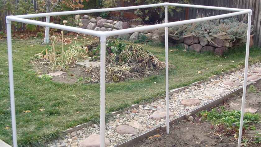 Build a frame, and then drape shade fabric (or an old sheet) over it to shield your plants.