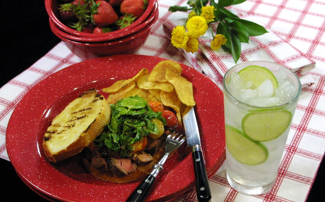 Grilled Steak and Roasted Tomato Sandwiches