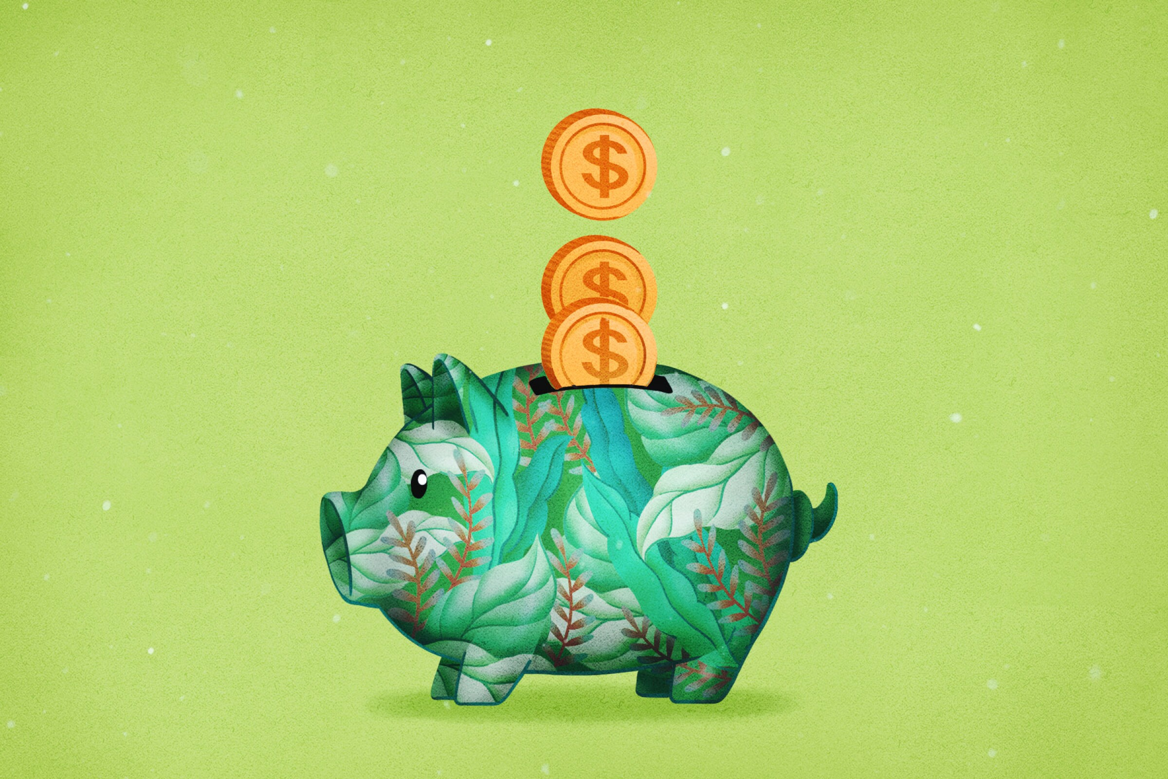 Piggy bank illustration
