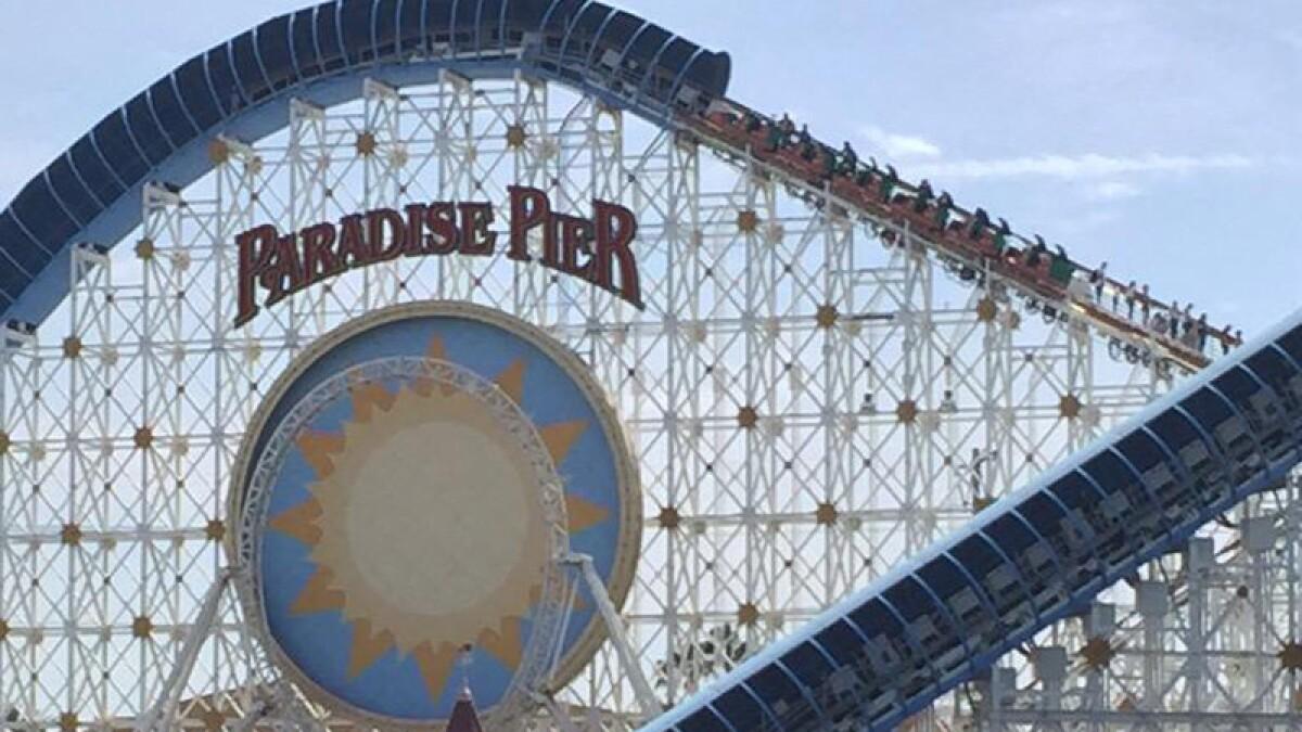 California Screamin Roller Coaster Gets Stuck At Disney California Adventure Los Angeles Times