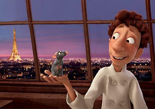 """""""Ratatouille"""" The 2007 hit film tells the story of a rat named Remy who has a talent for cooking. The film's animated Paris backdrop is almost as good as the real thing, all air brushed and rose colored. It's one of several films that can help you visit Paris without leaving home."""
