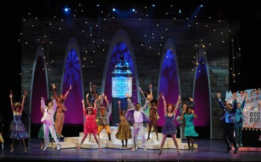 """A scene from Moonlight Stage Productions' 2011 staging of """"Hairspray,"""" directed by Steven Glaudini. The theater, operated by the city of Vista, has announced that Glaudini will succeed Kathy Brombacher as artistic director."""