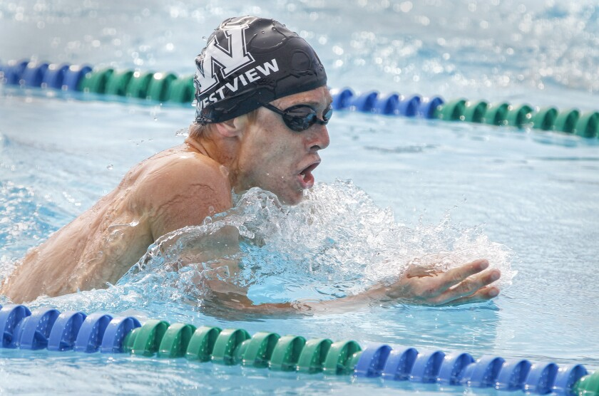 Jacque Wenger and his Westview High teammates are lucky to have a pool on campus.