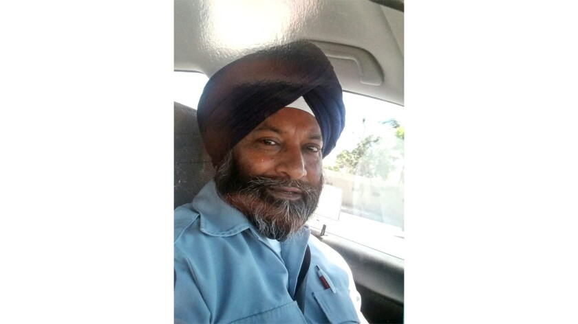 """Balwinder Jit Singh, an L.A. Metro bus driver who is Sikh, says he was attacked on his bus in November by a passenger who called him a """"terrorist"""" and a """"suicide bomber."""""""