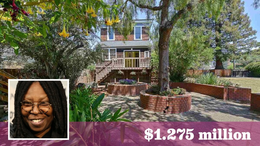Comedian and talk show host Whoopi Goldberg has put a Victorian-style compound in Berkeley on the market for $1.275 million.