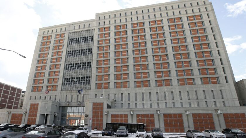 FILE- This Jan. 8, 2017 file photo shows the Metropolitan Detention Center (MDC) in the Brooklyn bor