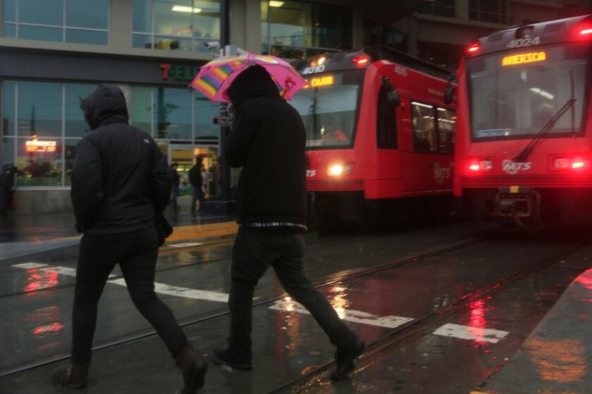 A series of storms influenced by the weather phenomenon El Nino have brought drenching rains to San Diego in early January.