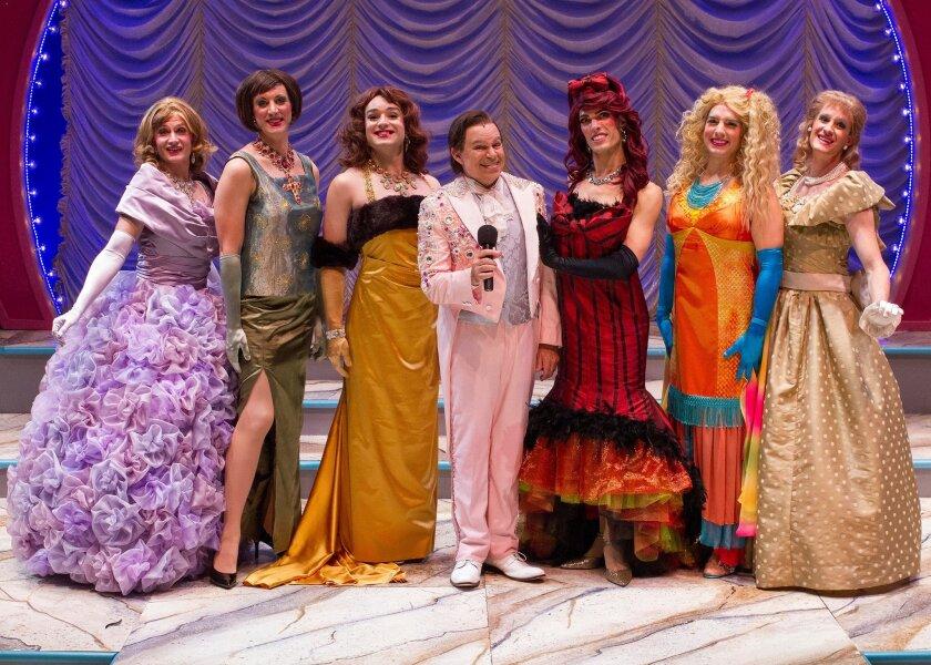 Pageant cast: David McBean, Tyan Fahey, Charles Osborne, Phil Johnson, Max Cadillac, Luke Jacobs Harvey and Conor Tibbs. Photo by Daren Scott