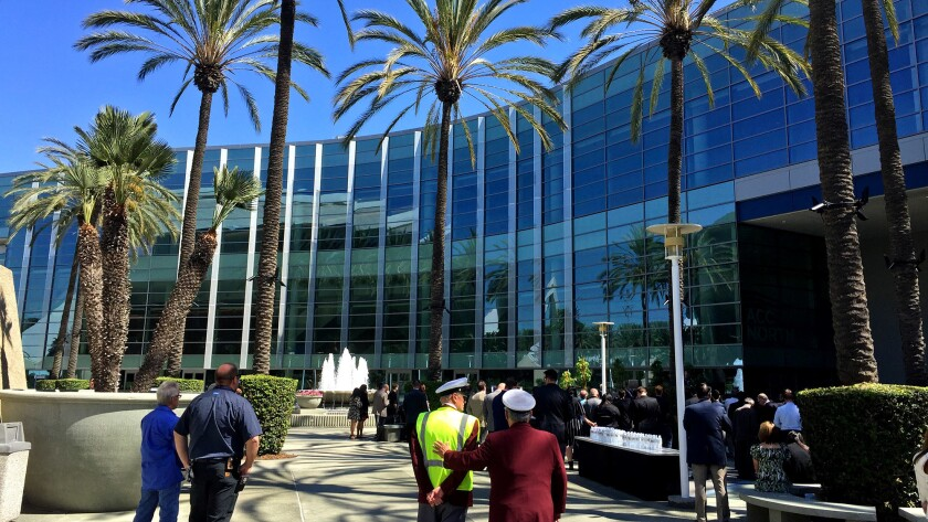 The Anaheim Convention Center added 200,000 square feet to bring its total exhibit space to more than 1 million square feet. It's latest addition is seen here on Sept. 26, 2017.