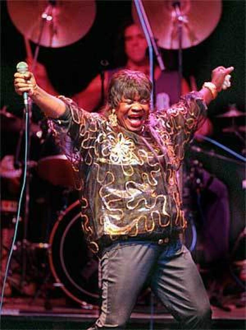 Koko Taylor performs at the Galaxy Theatre in Santa Ana in 1997.