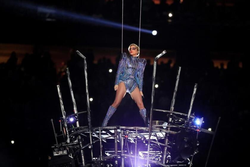 Presentación de Lady Gaga en el Super Tazón 2017. EFE / Archivo
