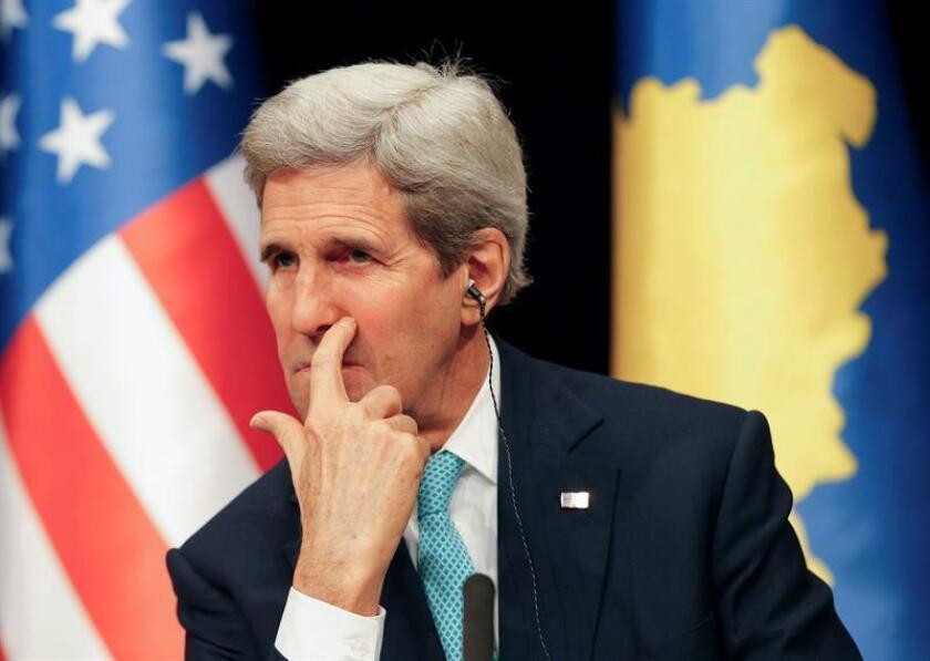 """El secretario de Estado John Kerry, felicitó hoy al presidente electo de Gambia, Adama Barrow, por su """"histórica victoria"""" en los comicios del pasado jueves, en los que venció por sorpresa al mandatario saliente, Yahya Jammeh. EFE/ARCHIVO"""