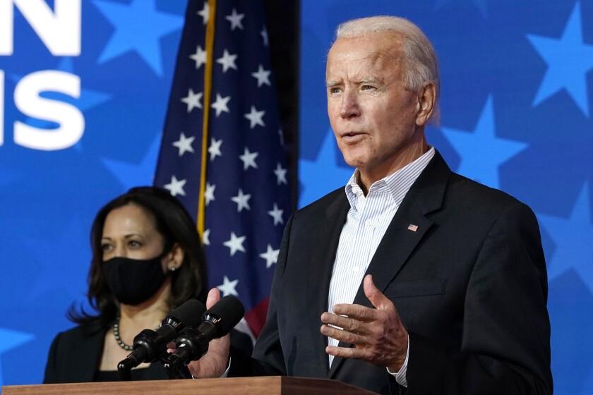 President-elect Joe Biden and Vice President-elect Sen. Kamala Harris