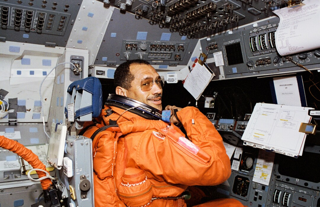 Charles Bolden aboard the space shuttle Discovery