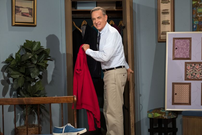 "Tom Hanks stars as Mister Rogers in ""A Beautiful Day in the Neighborhood."""