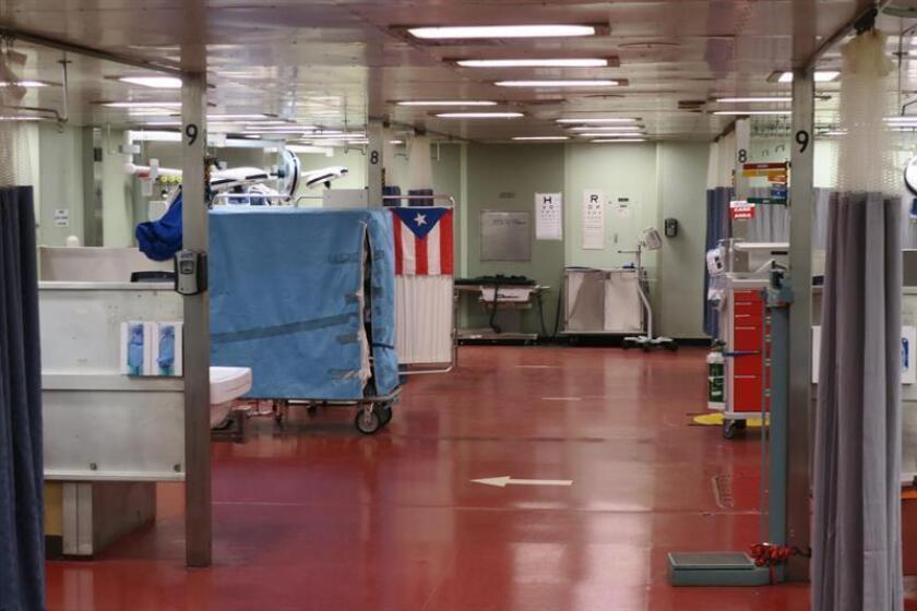 Fotografía del interior del barco hospital de la marina estadounidense en el puerto de San Juan (Puerto Rico). EFE/Archivo