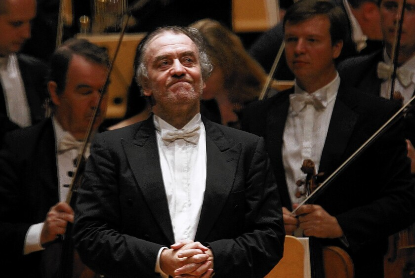 Conductor Valery Gergiev at Segerstrom Concert Hall in Costa Mesa on Oct. 13, 2011.