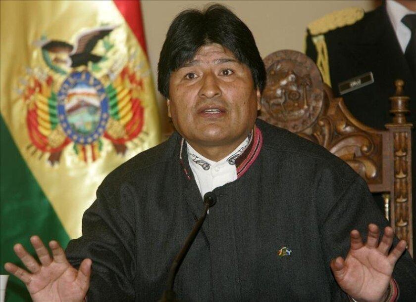 """En la imagen un registro del presidente de Bolivia, Evo Morales, quien afirmó que quiere una mujer que sea como su """"mamá"""", aunque que por ahora está """"casado con Bolivia"""". EFE/Archivo"""
