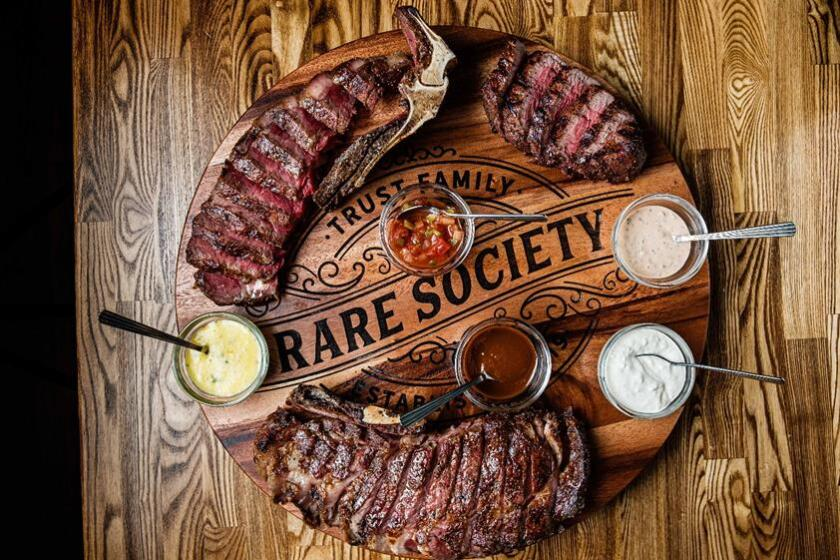 Meat-heavy options are available for a keto-based regimen at Rare Society.