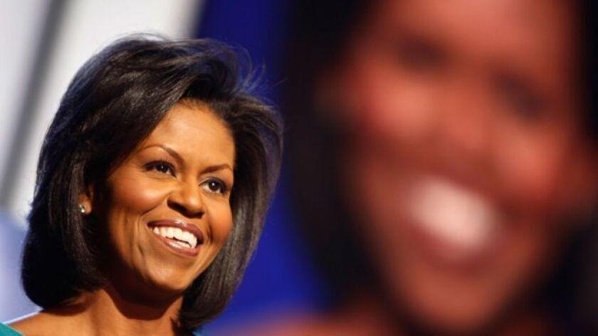 Michelle Obama se dio a conocer al mundo en la convención demócrata de 2008, cuando su esposo fue nominado como presidente por ese partido.